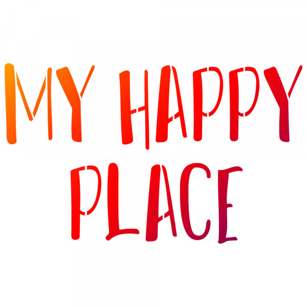 Viva Decor Universal-Schablone, DIN A4, My Happy Place