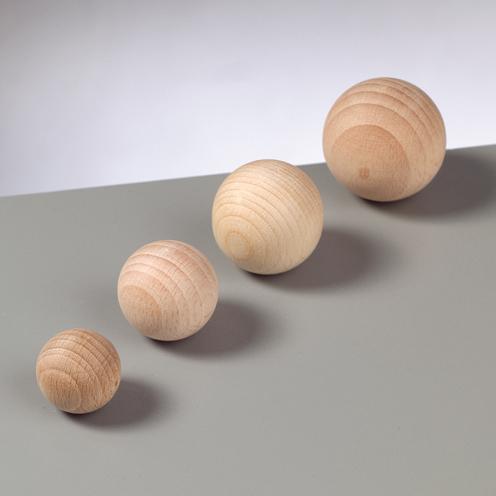 0,38 € // 1 Stk 5 Stück Holzkugeln halbgebohrt Größe 30mm