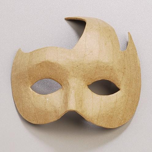 Maske Federschmuck, aus Pappmaché, 16 x 16,5 cm