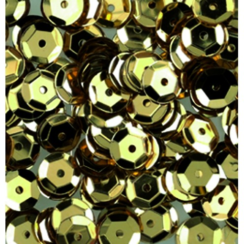 Pailletten, rund, gewölbt, 6 mm, 4000 St, gold