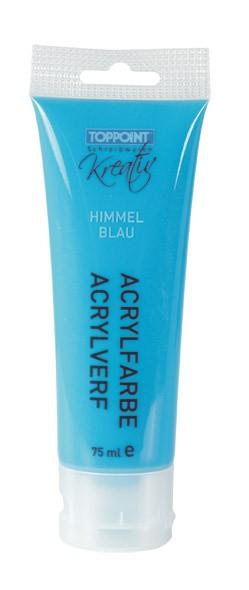 Toppoint Acrylfarbe, matt, 75 ml, Himmelblau