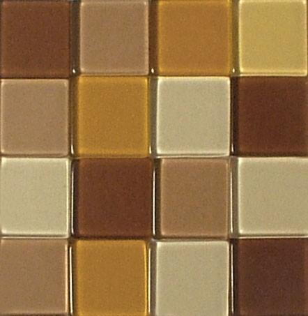 Mosaic Acryl, 1 x 1 cm, ca. 50 g, transparent, kaffeecreme