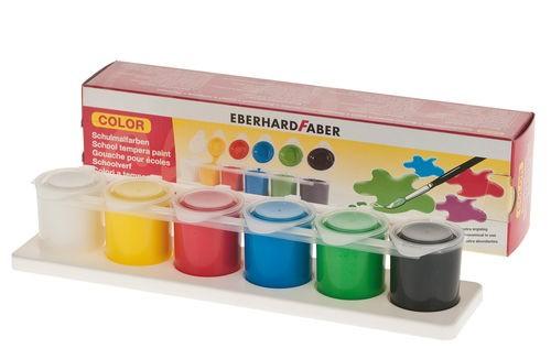 EBERHARD FABER Schulmalfarben, 6 x 25 ml