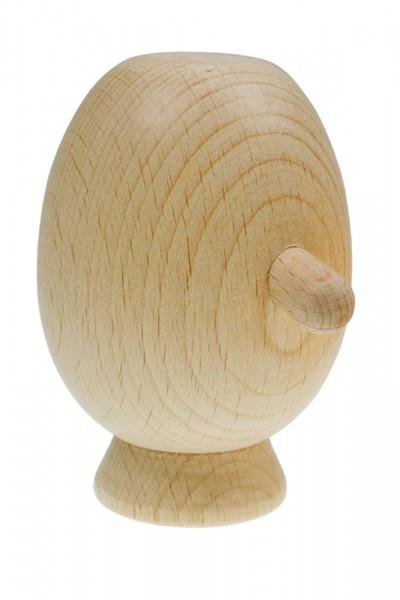 Marionettenkopf/Puppenkopf mit Hals, aus Holz, oval