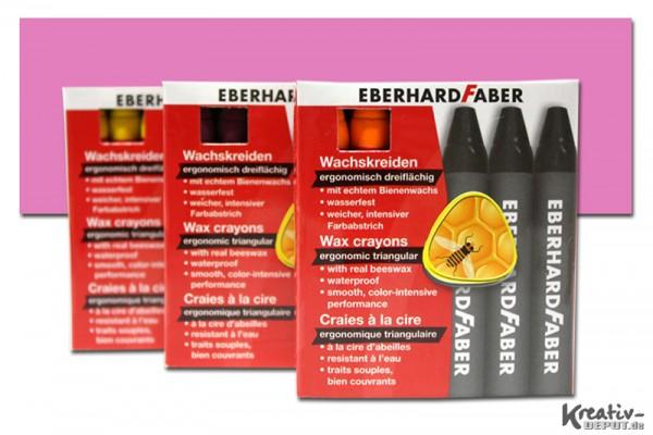 EBERHARD FABER Wachsmalkreiden, 12 Stück, purpurrosa hell