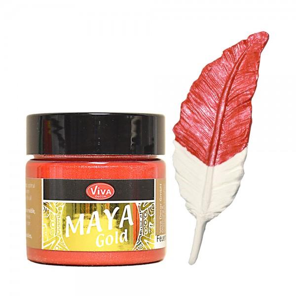 Viva Decor Maya-Gold, 45 ml, Feuerrot