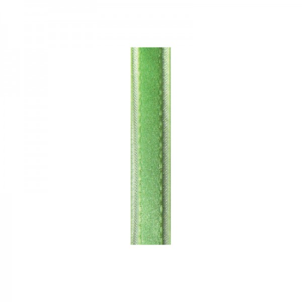 Satinband mit Chiffonkante, 10mm, - hellgrün