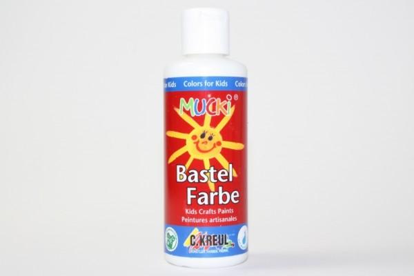 Mucki Bastelfarbe, 80 ml, Weiß