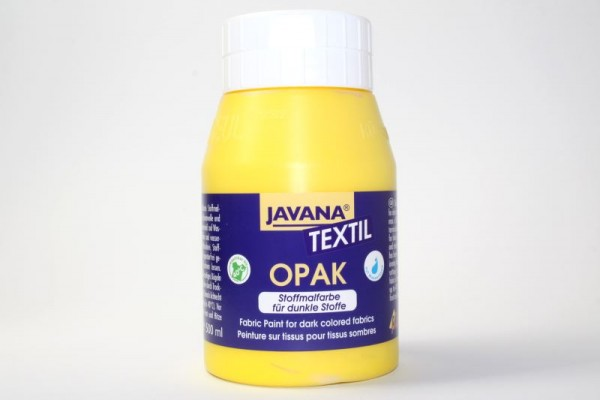 JAVANA TEXTIL Opak, für dunkle Stoffe, 500 ml, Gelb