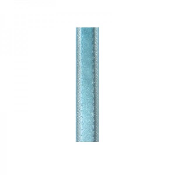 Satinband mit Chiffonkante, 10mm, - hellblau