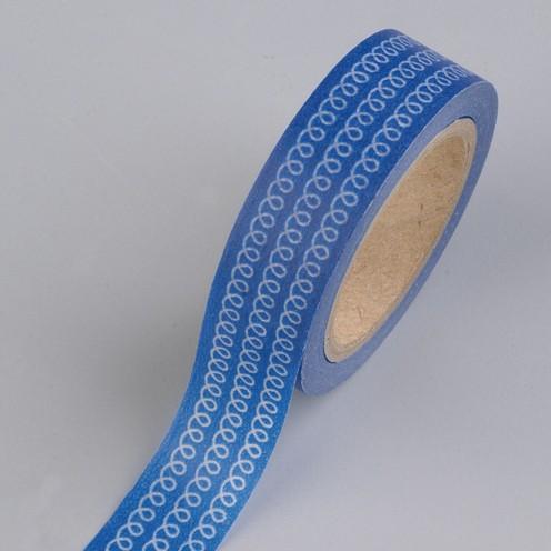 Creative Tape / Washi Tape, 15 mm x 10 m, Schlaufen, blau