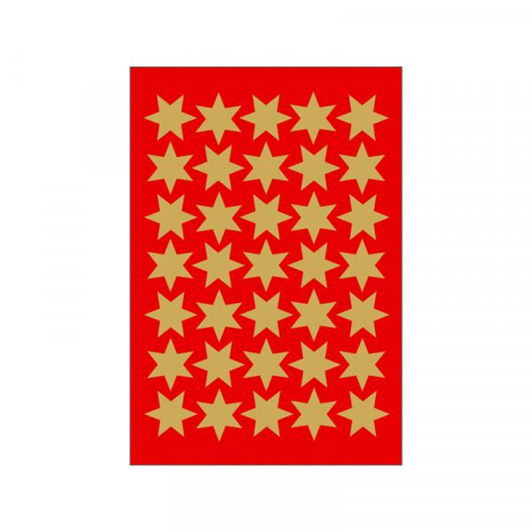 Sticker Sterne, Ø 16 mm, gold