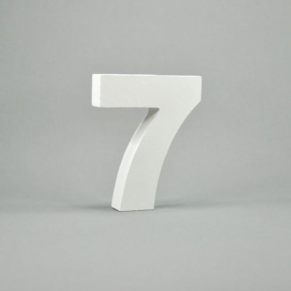 """MDF- Zahlen """"7"""", weiß"""
