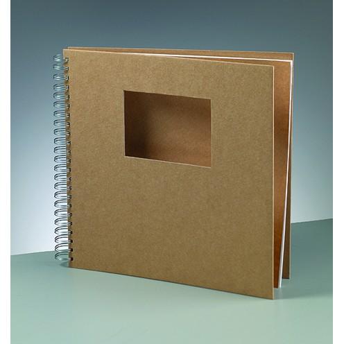 Sammelalbum Ausschnitt Rechteck, aus Pappmachè, 30 x 30 cm