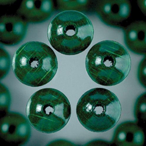 Holzperlen 6mm, 110 Stück - dunkelgrün