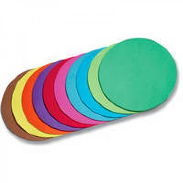 Faltblätter, Rund, 8 cm, 500 Blatt, 70 g/m², farbig sortiert