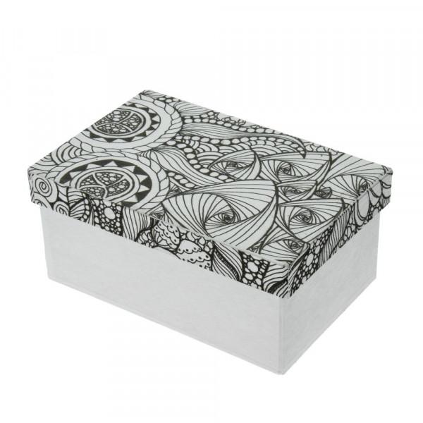DoodleArt Abstrakt, Box Rechteck, 16 x 10,5 x 7cm