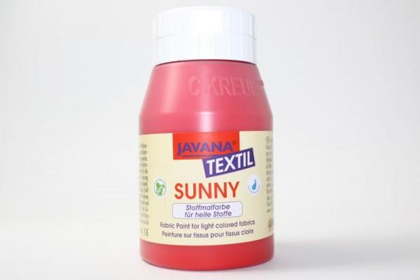 JAVANA TEXTIL SUNNY, für helle Stoffe, 500 ml, Rot