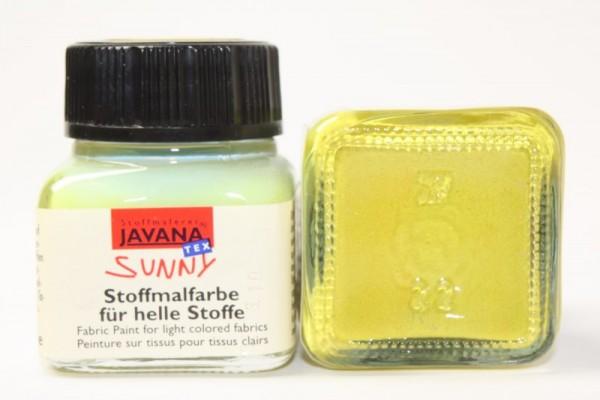 JAVANA TEXTIL SUNNY, für helle Stoffe, 20 ml, Gelbgrün