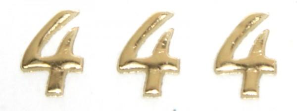 Wachszahlen, 8 mm, 3 Stück, gold, 4