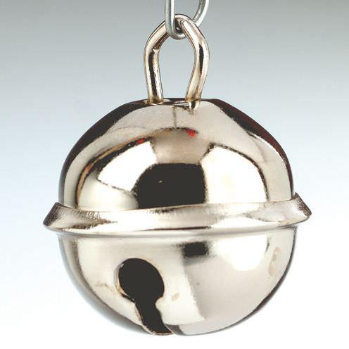 Metallglöckchen/Schellen, Ø 15 mm, 4 Stück, silberfarben