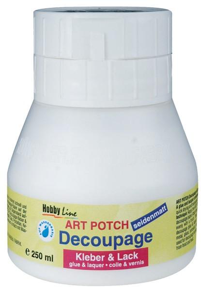 Art Potch Decoupage Kleber & Lack, seidenmatt, 250ml