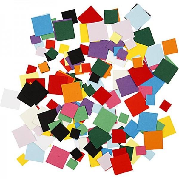 Mosaik aus Pappe, Größe 10+15+20mm