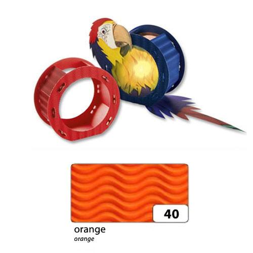 Laternenrohling, rund, aus 3D-Welle, Ø 22 cm, orange