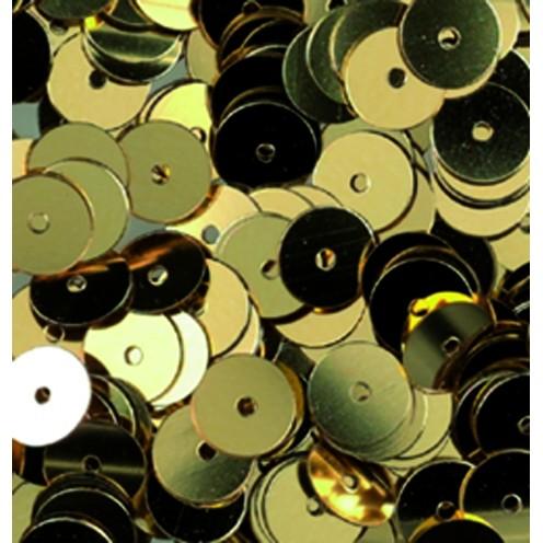 Pailletten, rund, flach, 6 mm, 4000 St, gold