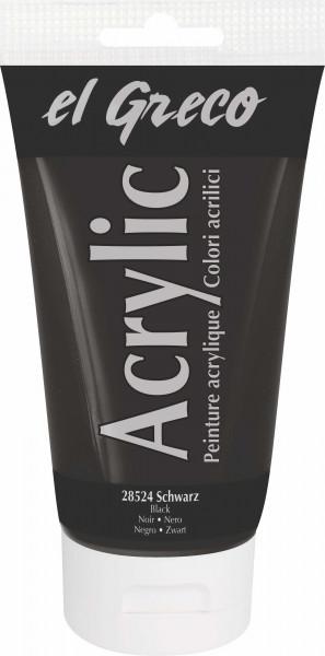 Acrylfarbe el Greco Acrylic, 150 ml - Schwarz