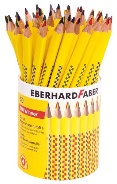 EBERHARD FABER Tri Winner Regenbogenstift, Köcher mit 50 Stiften