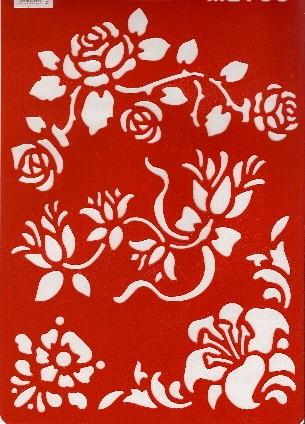 Motiv-Schablone Blumenranken