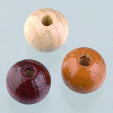 Holzperlen Mix 10mm - braunmix