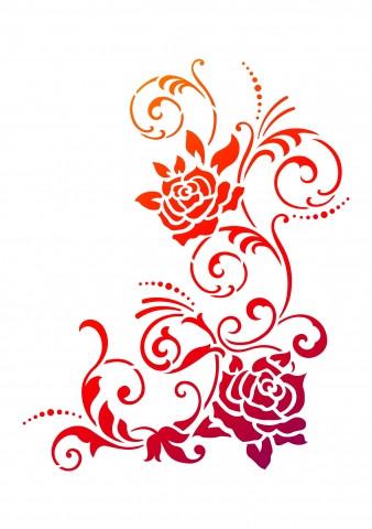 Viva Decor Universal-Schablone, DIN A4, Filigrane Blüten
