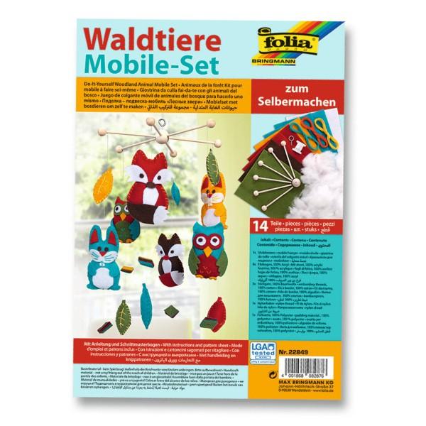 Waldtiere Mobile-Bastelset, 14 Teile