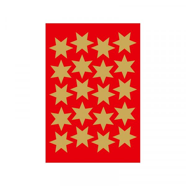 Sticker Sterne, Ø 21 mm, gold