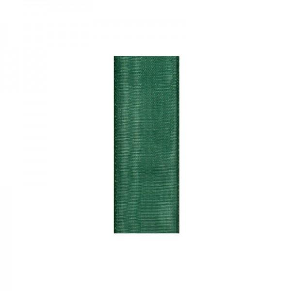 Chiffonband, 10mm breit, 10m lang - dunkelgrün