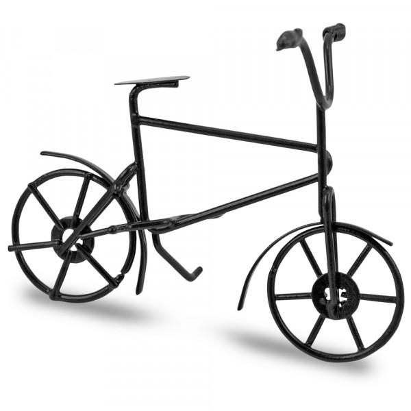 "Metall-Deko ""Fahrrad"" schwarz 10 x 6 cm"