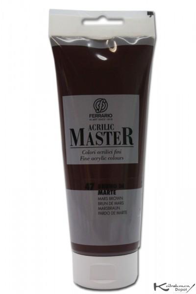 Ferrario Acrilic Master Acrylfarbe, 250 ml, Marsbraun