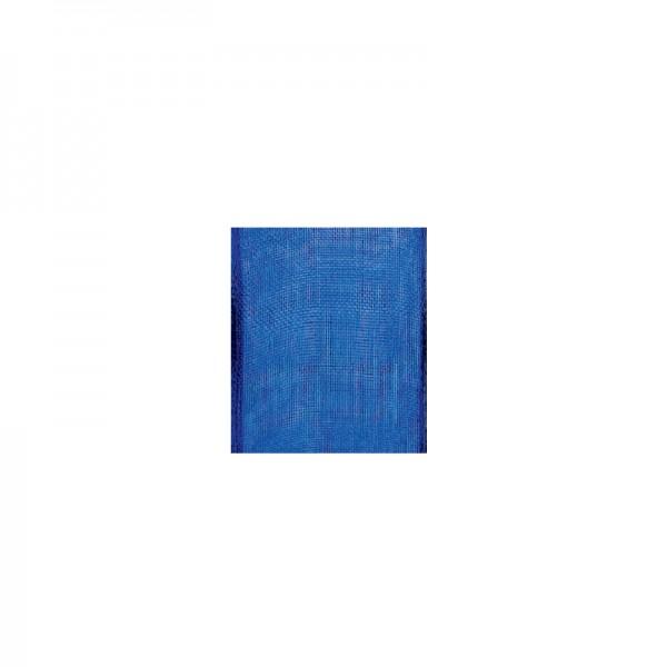 Chiffonband mit Drahtkante, 15mm breit, 5m lang - royalblau