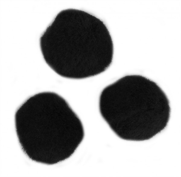 Pompons, Ø 7 mm, 70 Stück, schwarz