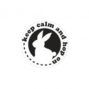Einlege-Label, Ø 45 mm, keep calm and hop on