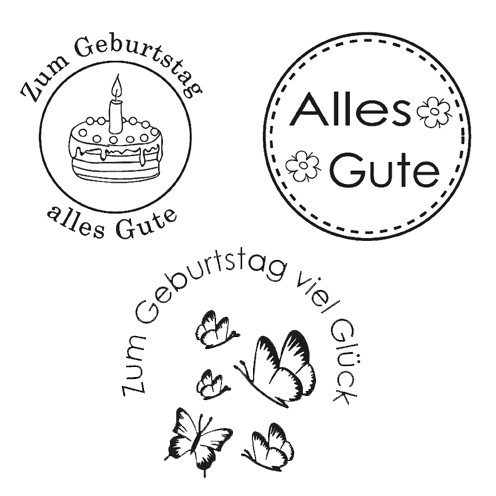 Clear Stamps - Alles Gute