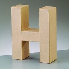 Buchstabe H, 5x2 cm, aus Pappmaché