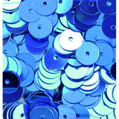 Pailletten, rund, flach, 6 mm, 4000 St, hellblau