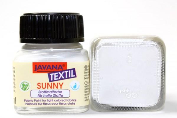 JAVANA TEXTIL SUNNY, für helle Stoffe, 20 ml, Weiß