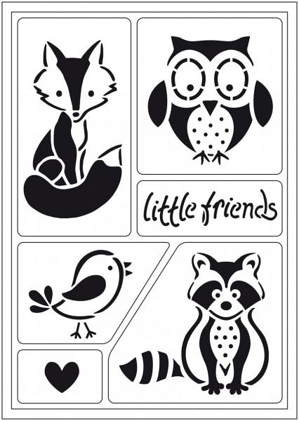 Viva Decor Flex-Schablone A5 - Little Friends