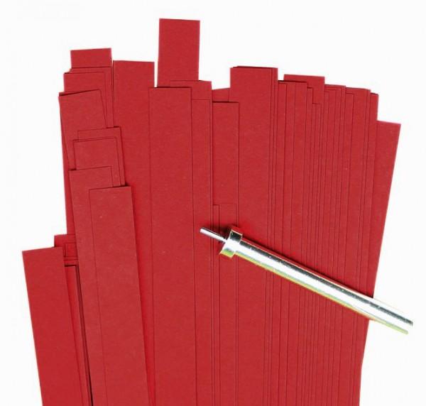Quilling Papierstreifen, 10mm x 450mm, kirschrot