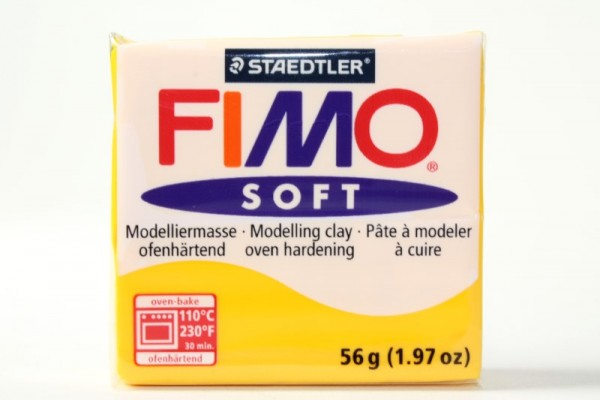 FIMO soft, Modelliermasse, 56 g, Sonnengelb