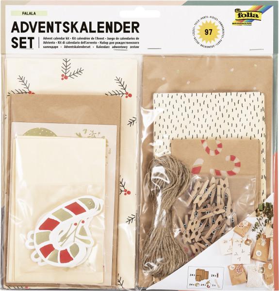 "Adventskalender-Set ""Falala"", 97 Teile"